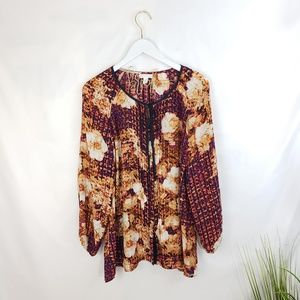 Charter Club Abstract Floral Blouse Size XL